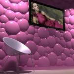 Гипсовая 3д панель Пузыри от производителя в Киеве