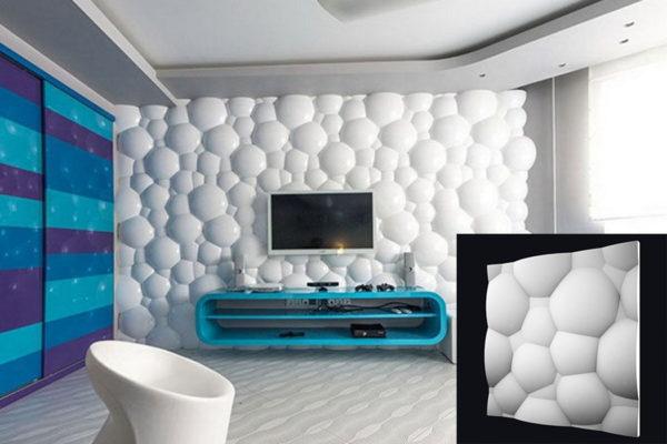 Гипсовая 3д панель Пузыри купить в Киеве