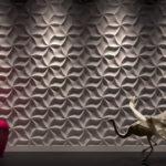 3д панель Оригами из гипса