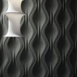 Декоративная гипсовая 3д панель Складки в интерьере