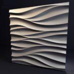 Гипсовая 3д панель амбровая вуаль от производителя