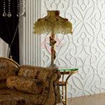 Декоративные гипсовые 3д панели Вензель в интерьере
