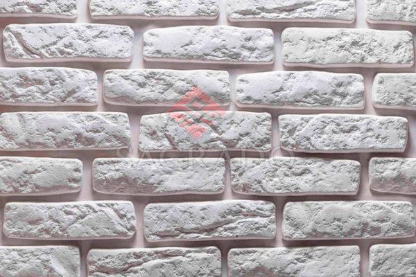 Гипсовая плитка под кирпич Лофт белая