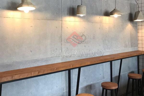 Декоративные бетонные панели из гипса в интерьере